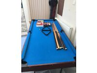 "6""x3"" Pool table"