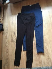 Size 8 maternity jeggings & size 10 maternity leggings