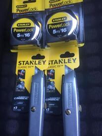 Stanley tools x4 brand new.