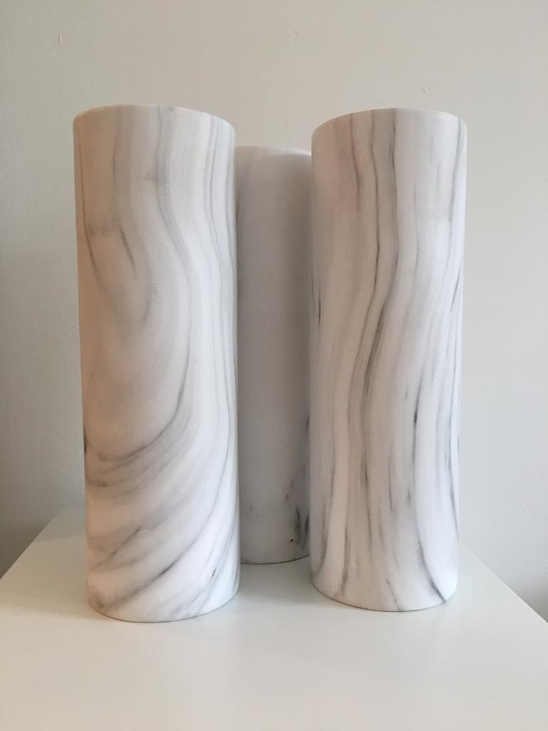 9 X tall marble effect vases