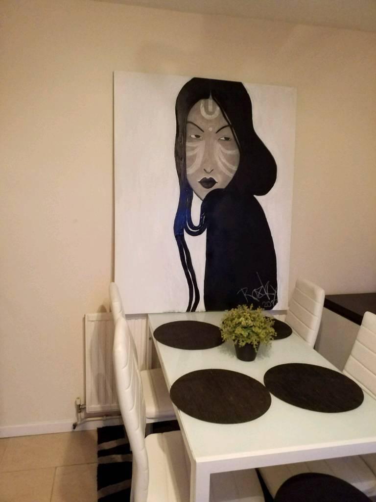 Handmade painting at 50×40 canvas made be chargol