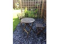 Bistro wooden garden set