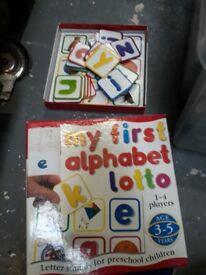 My First Alphabet Lotto kids game - board learning