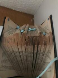 Just married book folded pages gift