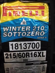 4 Brand  New Pirelli SottoZero Winter 210 215/60R16 XL Serie II *** WallToWallTires.com ***