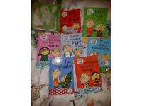 Charlie and Lola hardback books and back pack