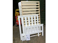 White wooden 'Jamestown' cot/bed from Mothercare.