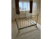 Double Antique Style Brass Divan Bed Frame
