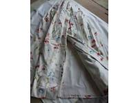 Pair of lined floral curtains