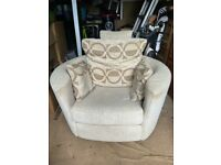 Rocking and reclining arm chair or cuddle seat