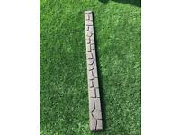 1.2m recycled rubber garden edging with spikes x 13