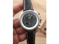 New leather strap Breitling bentley watch