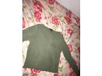khaki long sleeved top