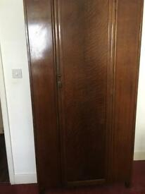 Wardrobe (With a hanging rail and mirror inside)