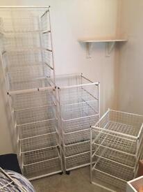 Ikea wire drawers shelves wardrobe
