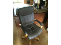 Quality brown leather office chair