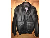 Leather Jacket men's size 38