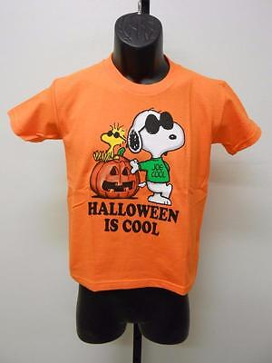 NEW HALLOWEEN IS COOL SNOOPY PEANUTS YOUTH SIZE 5/6-7-8/10-12/14 SHIRT](Peanuts Halloween Shirt)