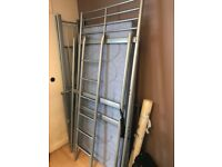 High sleeper metal bunk bed + mattress and Alan key set - Collection only