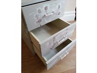 Beautiful Furniture/chest/bedsite cabinet - Painted - dantelions