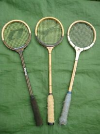 Vintage Round Head Wooden Squash Racket for £10.00