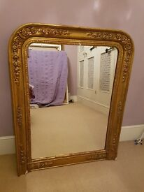 Authentic antique Louis Philippe french mirror
