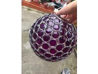 Purple Ball Chandelier