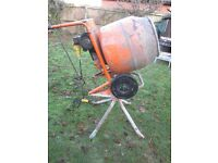 Belle Minimix 150 Concrete Mixer 110Volt Electric with Stand