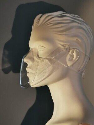 Maske, Mundschutz, smile by eGo, durchsichtige Mund- und Nasenbedeckung, PET