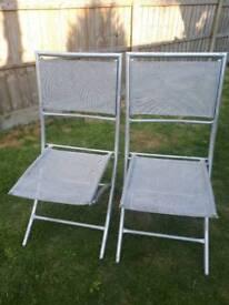 Folding garden chairs