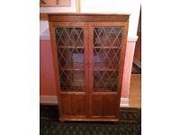 LOVELY LIVINGROOM/HALL, REAL WOOD DISPLAY CABINET - OVER 20 YEARS OLD
