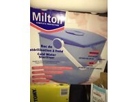 Milton Cold water steriliser in blue
