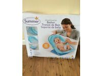Summer Infant Deluxe Baby Bather Splish Splash/Bath seat Blue in excellent condition