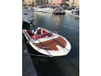Classic Broom Speed Boat with Suzuki 25HP outboard