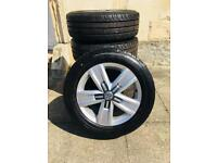 """New VW Davenports 17"""" Alloys With New Tyres"""