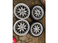 """Genuine BBS RX507 split 18"""" 5x120 Bmw alloy wheels"""
