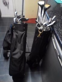 for sale golf clubs and golf trolly