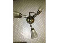 Lovely 3 Stem Ceiling Light with Bulbs included
