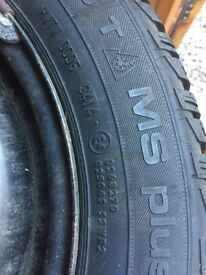 Set of 4 unused winter tyres