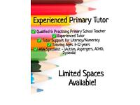Qualified & Experienced Primary Tutor