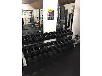Full set of Dumbbells and rack 5-60kg