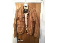 BELSTAFF 4 front leather jacket in tan