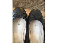 Leather shoes size uk 6(39)