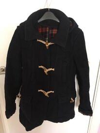 Topshop Navy Duffle Coat, Size 8