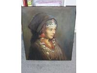 Beautiful Artwork Painting Portrait Oil on Canvas