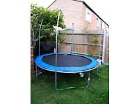 8ft trampoline with enclosure (no net)