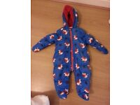 Next Car Print Snowsuit, 6-9 months boy,almost new