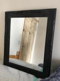Black frame mirror