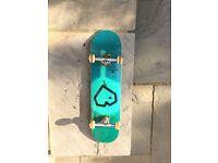Blueprint Skateboard Spray Heart SKATEBOARD (Green, 8.0-Inch) Rarely Used. Great Condition