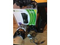 Xbox 360 S 250GB, boxed with 87 games, 3 controllers, accessories